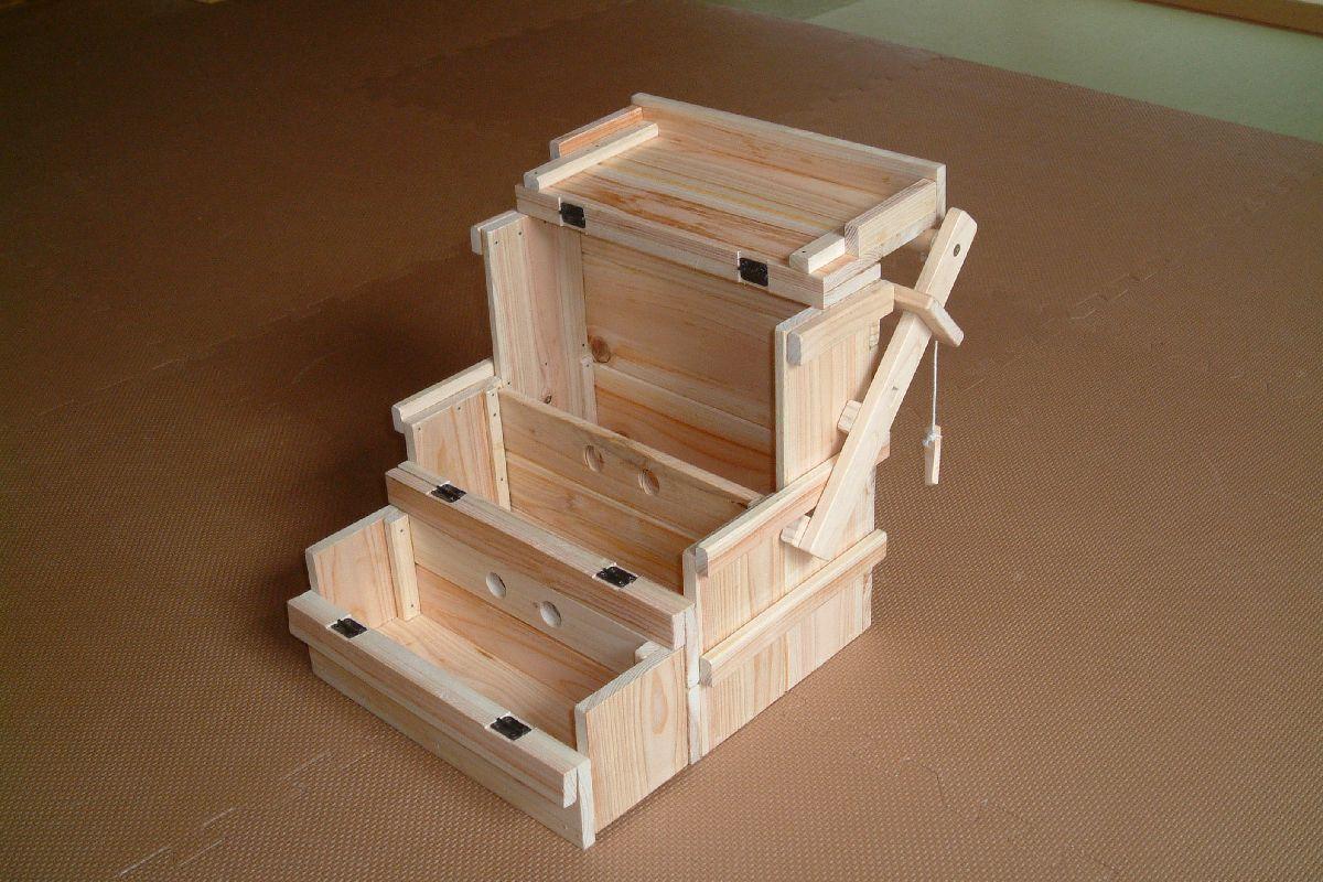 オカモチ型 調味料Box(ヒノキ・小)