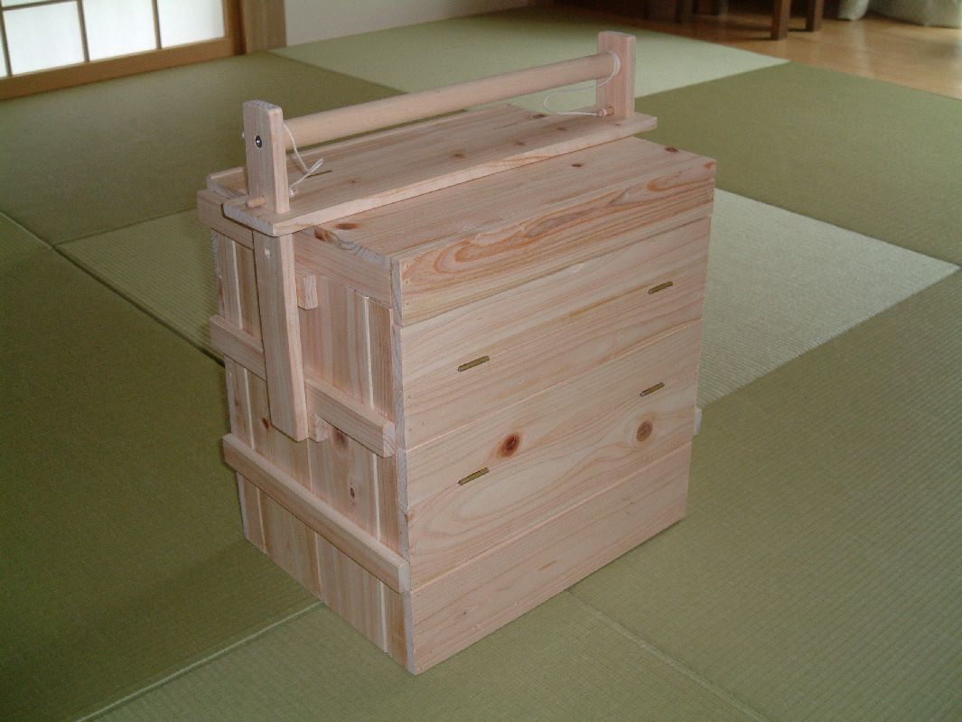 オカモチ型 調味料Box(ヒノキ・大)