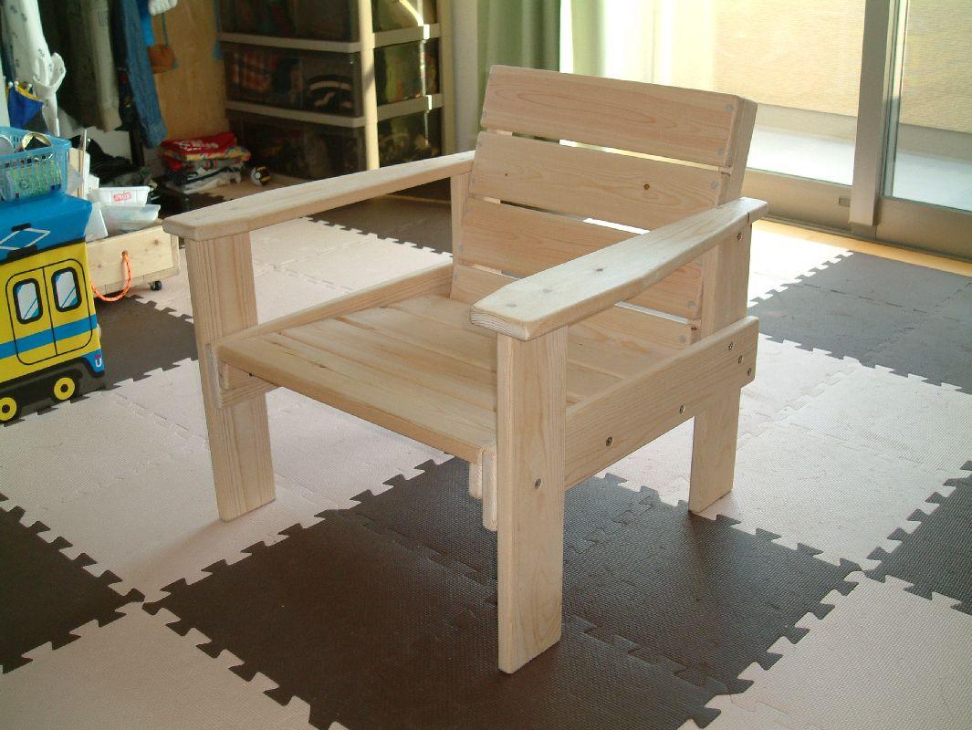 1×4 肘掛け椅子(子供用)