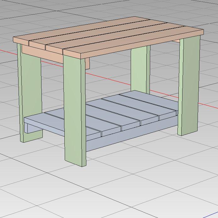 1×4 テーブル H390W597D365