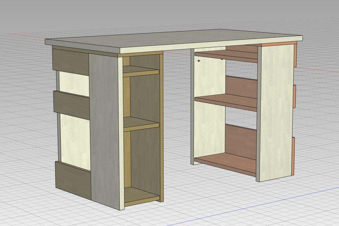 棚脚の机2