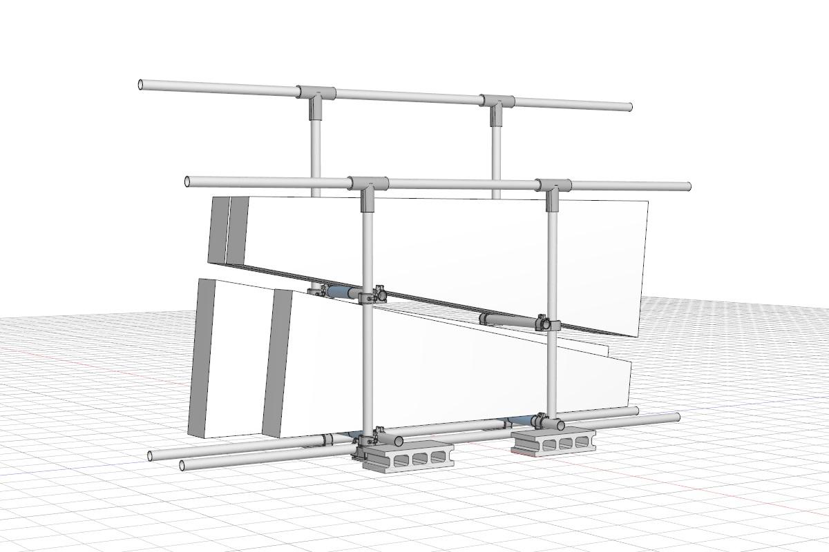 単管パイプで作った脚立スタンド(再)